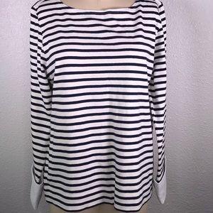 J. Crew French Cuff Breton Stripe Shirt